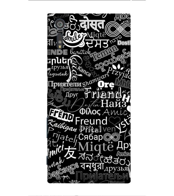 Friend in All Languages Back Cover for Sony Xperia XZ
