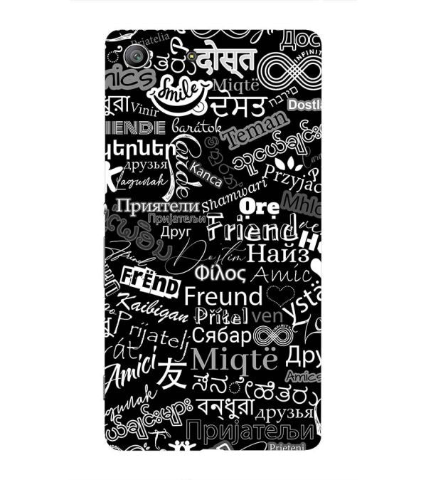 Friend in All Languages Back Cover for Sony Xperia Z3 Compact
