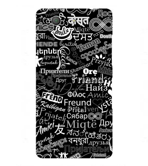 Friend in All Languages Back Cover for Sony Xperia Z3+ and Xperia Z4