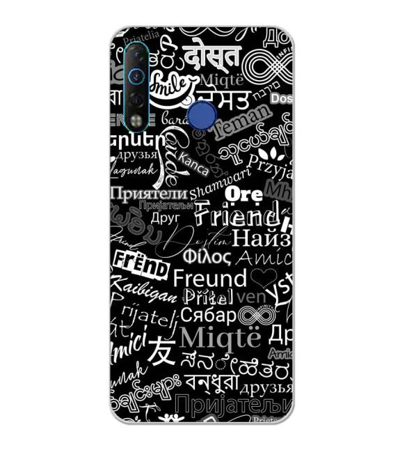 Friend in All Languages Back Cover for Tecno Camon 12 Air