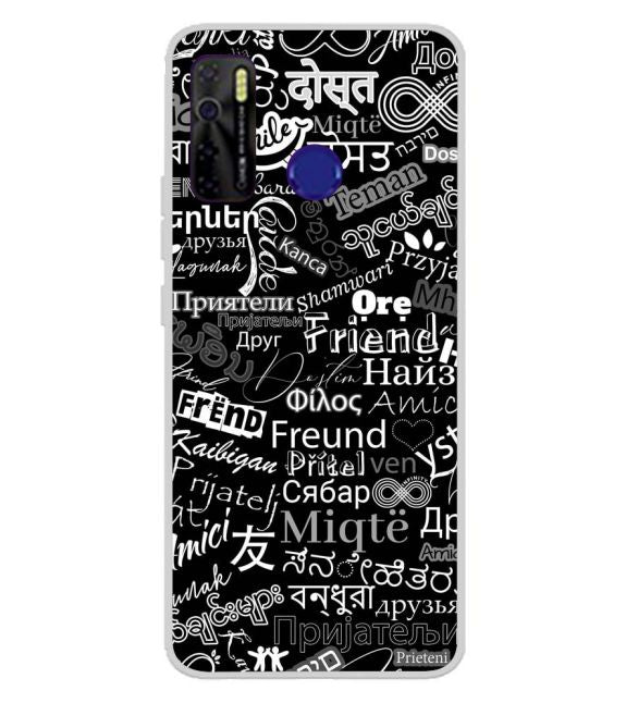 Friend in All Languages Back Cover for Tecno Camon 15