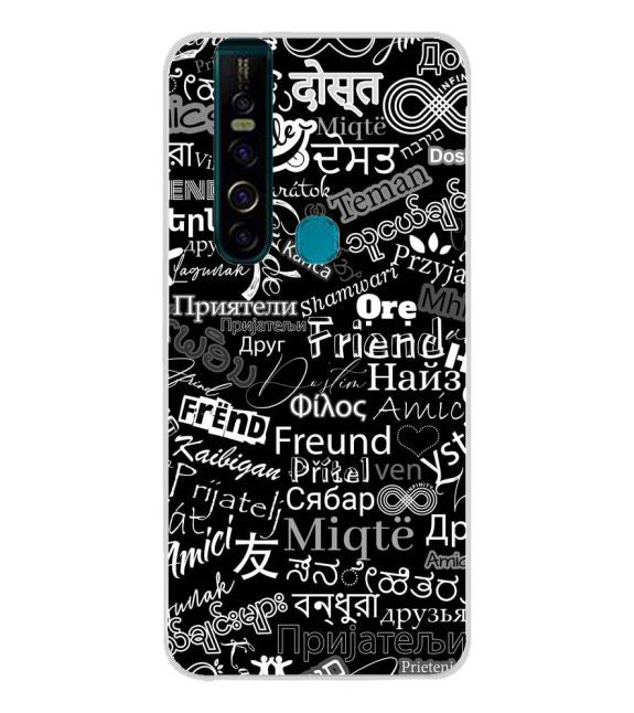 Friend in All Languages Back Cover for TECNO Camon 15 Pro