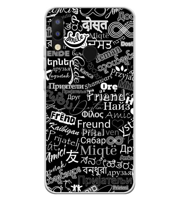 Friend in All Languages Back Cover for Tecno Camon i2