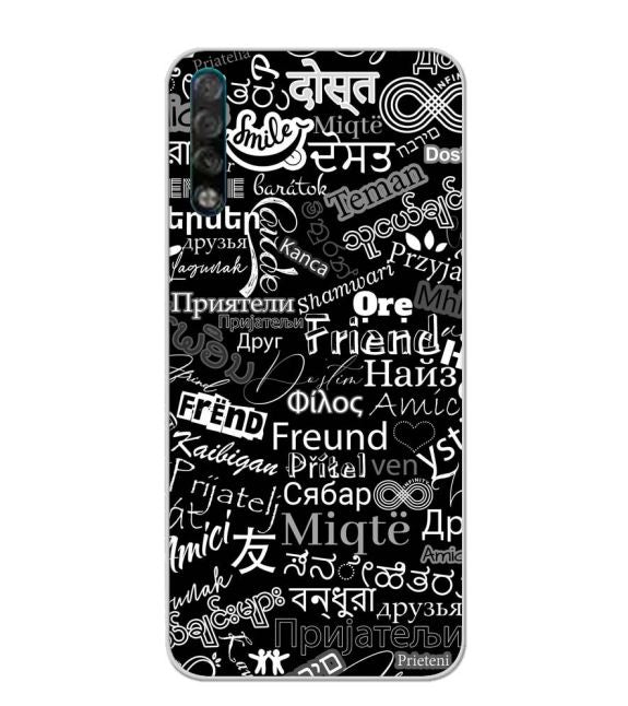 Friend in All Languages Back Cover for Tecno Phantom 9