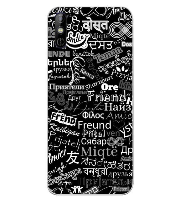 Friend in All Languages Back Cover for Tecno Spark Go