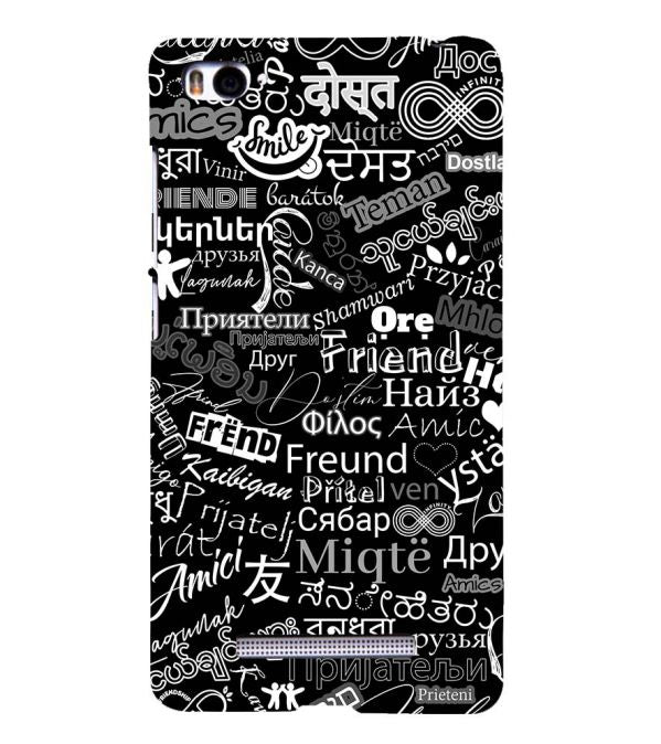 Friend in All Languages Back Cover for Xiaomi Mi 4i