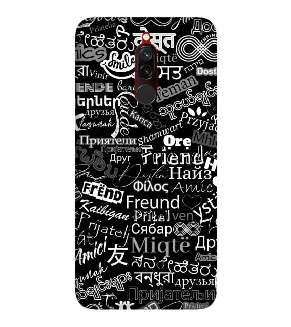 Friend in All Languages Back Cover for Xiaomi Redmi 8