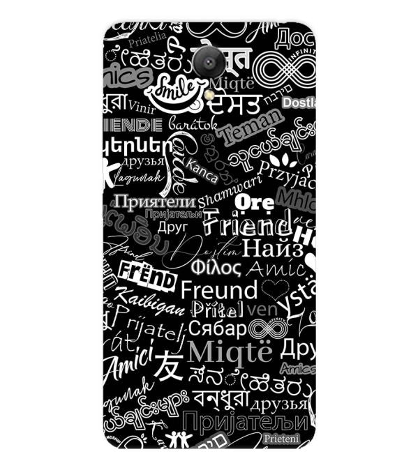 Friend in All Languages Back Cover for Xiaomi Redmi Note 2