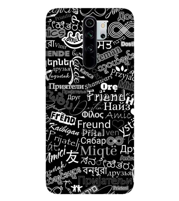 Friend in All Languages Back Cover for Xiaomi Redmi Note 8 Pro