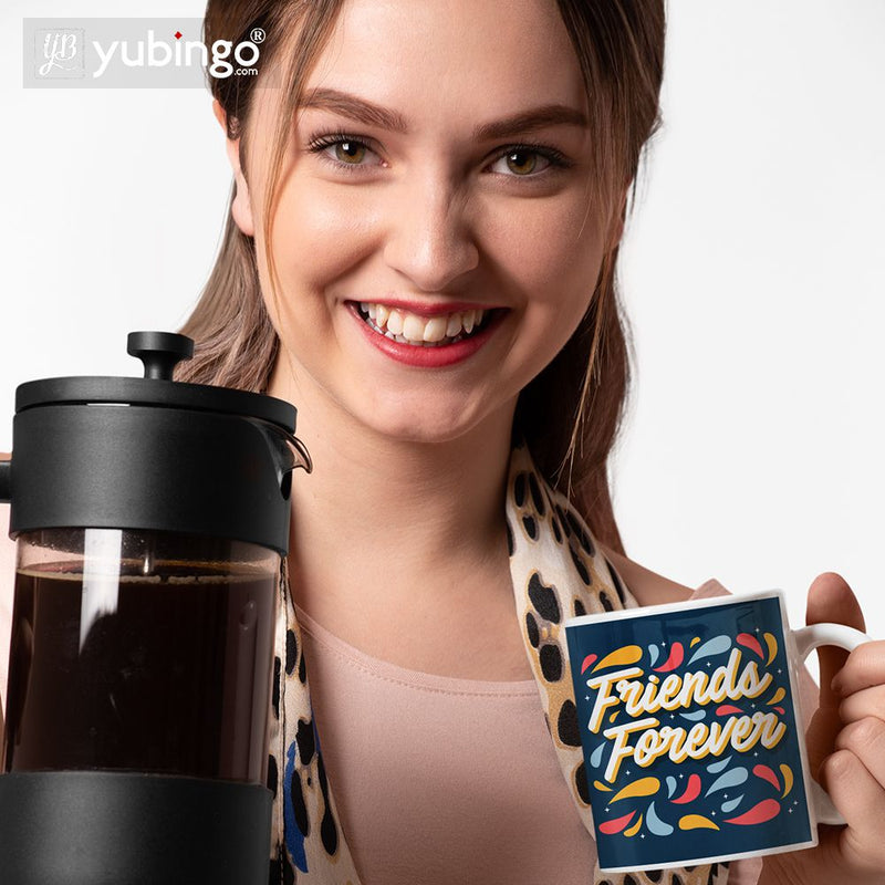 Friends Forever Coffee Mug with Coaster and Keychain