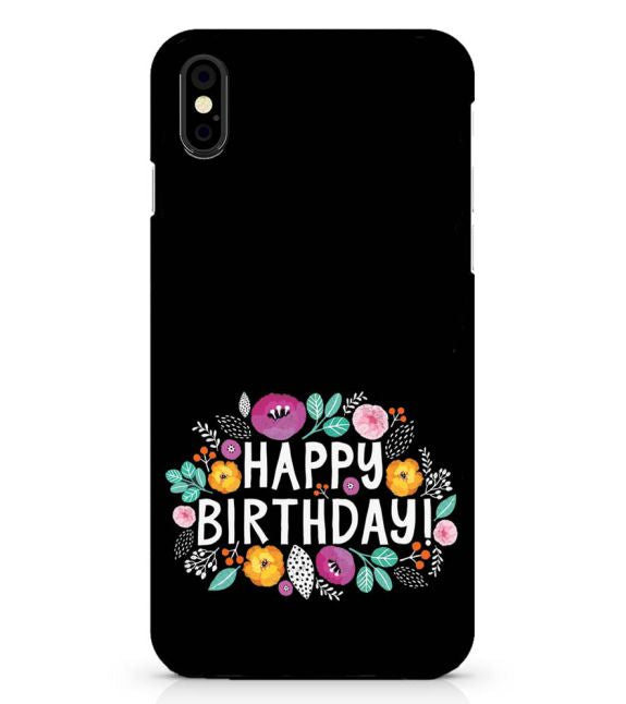 Happy Happy Birthday Back Cover for Apple iPhone X