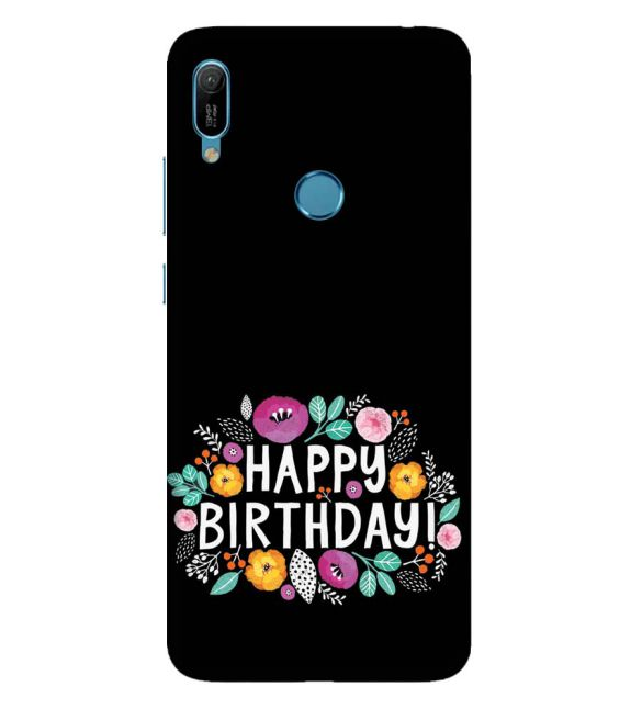 Happy Happy Birthday Back Cover for Huawei Y6 Prime (2019)
