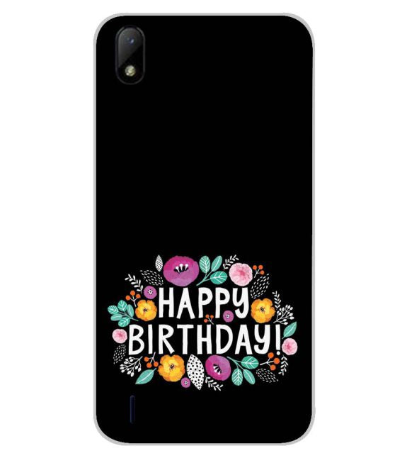 Happy Happy Birthday Back Cover for Lava Z41