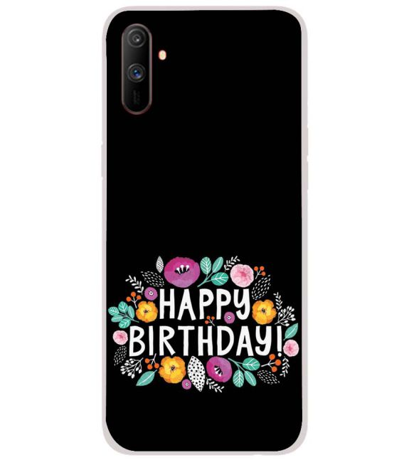 Happy Happy Birthday Back Cover for Realme C3