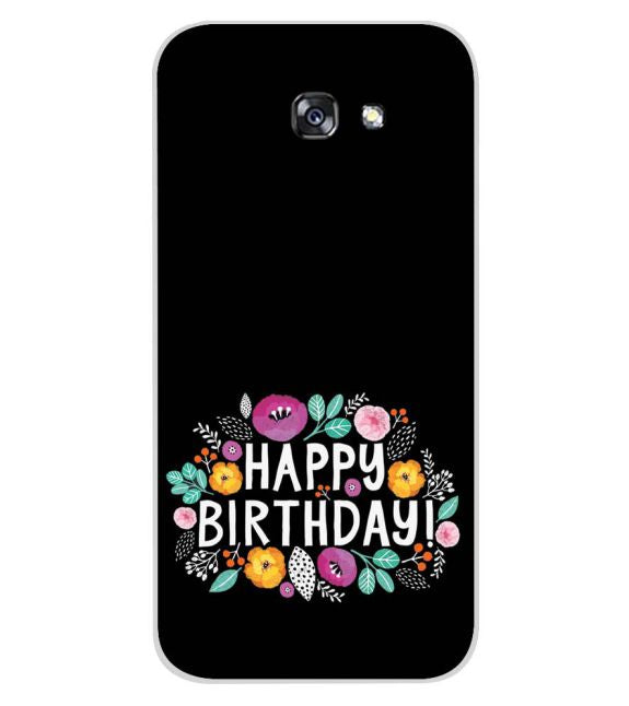 Happy Happy Birthday Back Cover for Samsung Galaxy A7 (2017)