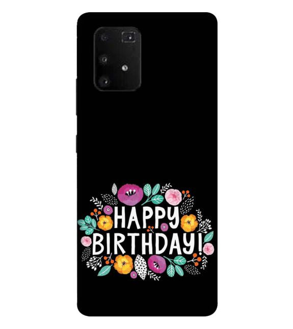 Happy Happy Birthday Back Cover for Samsung Galaxy A91