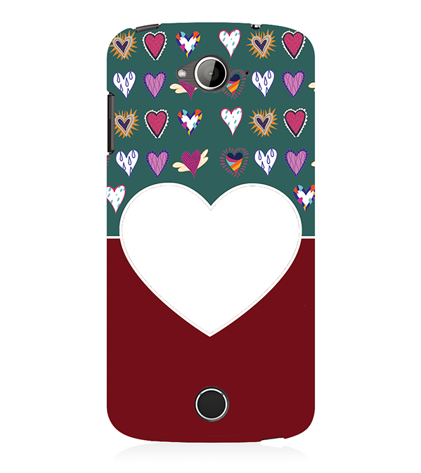 Hearts Photo Back Cover for Acer Liquid Zade 530