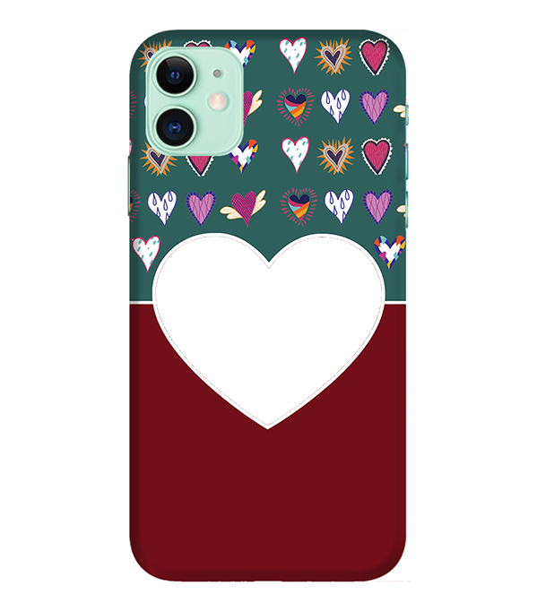 Hearts Photo Back Cover for Apple iPhone 11