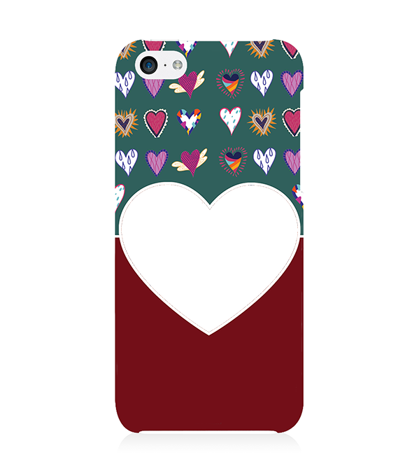 Hearts Photo Back Cover for Apple iPhone 5c