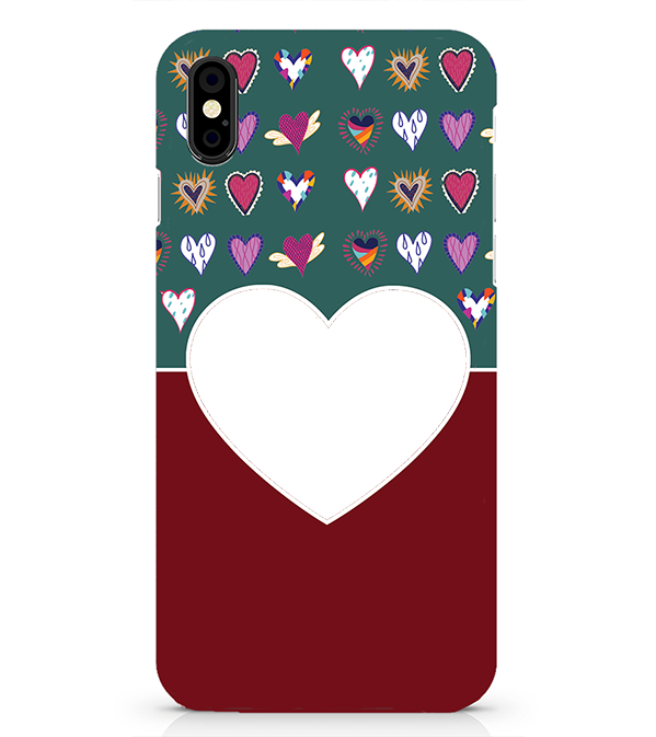 Hearts Photo Back Cover for Apple iPhone X