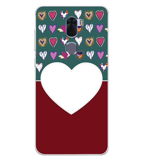 Hearts Photo Back Cover for Coolpad Cool 1