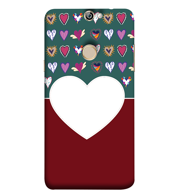 Hearts Photo Back Cover for Coolpad Max A8