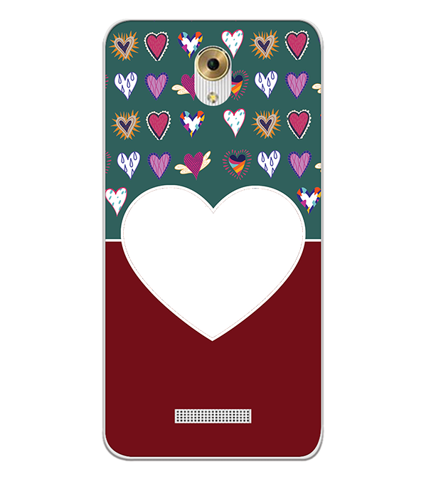 Hearts Photo Back Cover for Coolpad Mega 5M