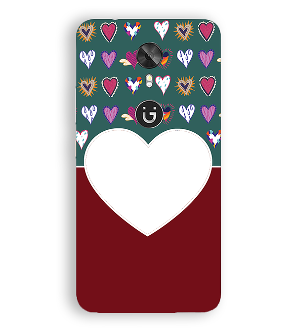 Hearts Photo Back Cover for Gionee A1