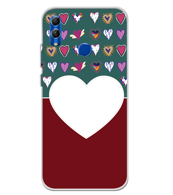 Hearts Photo Back Cover for Honor 10 Lite