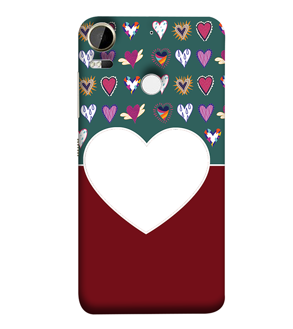 Hearts Photo Back Cover for HTC Desire 10 Pro