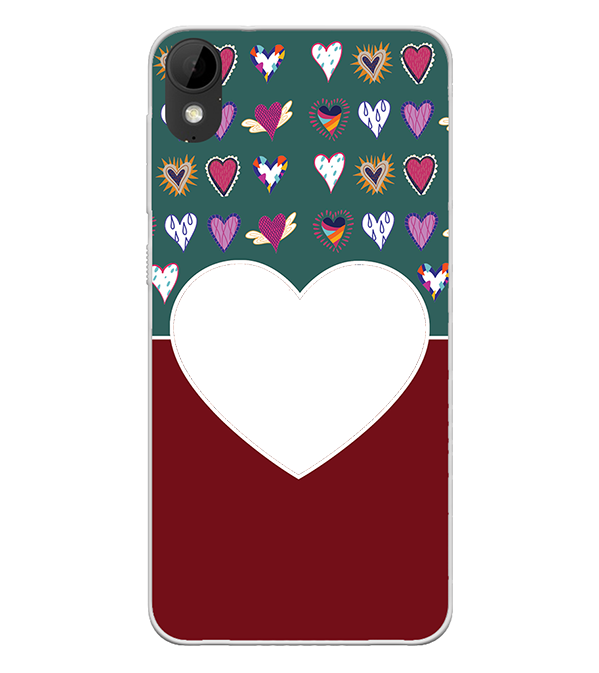 Hearts Photo Back Cover for HTC Desire 825