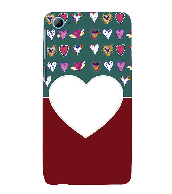 Hearts Photo Back Cover for HTC Desire 826