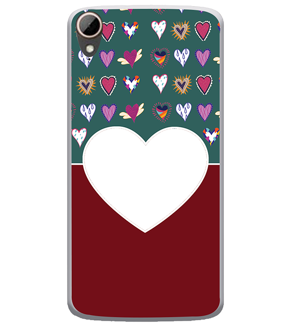 Hearts Photo Back Cover for HTC Desire 828