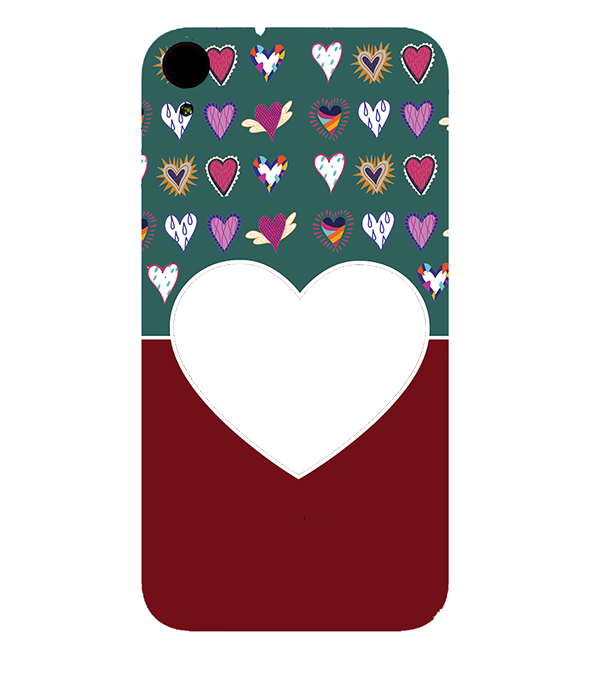 Hearts Photo Back Cover for HTC Desire 830