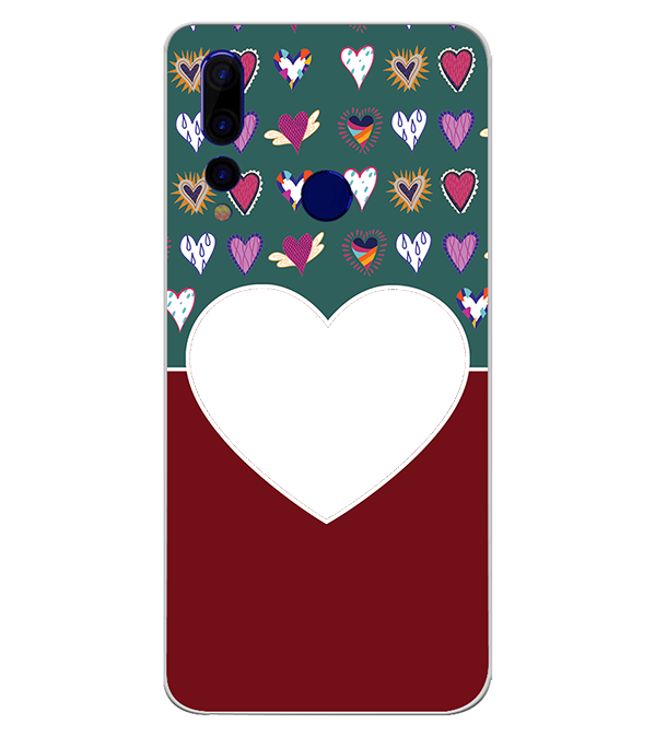 Hearts Photo Back Cover for HTC Wildfire X
