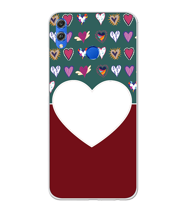 Hearts Photo Back Cover for Huawei Honor 8X