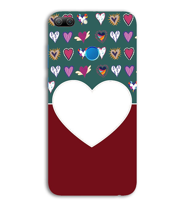 Hearts Photo Back Cover for Huawei Honor 9 Lite