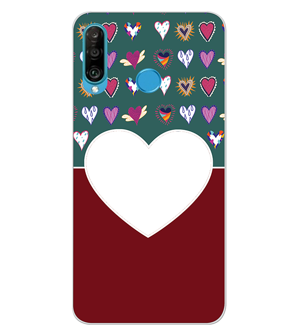 Hearts Photo Back Cover for Huawei P30 lite