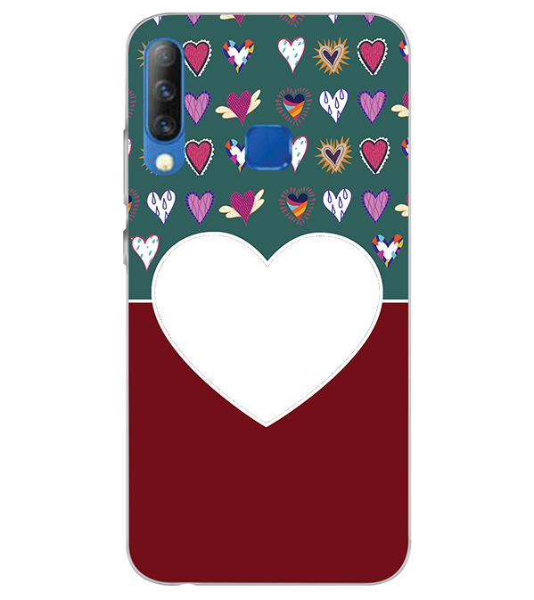 Hearts Photo Back Cover for Infinix S4