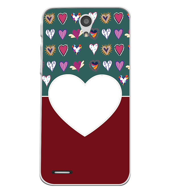 Hearts Photo Back Cover for InFocus M260