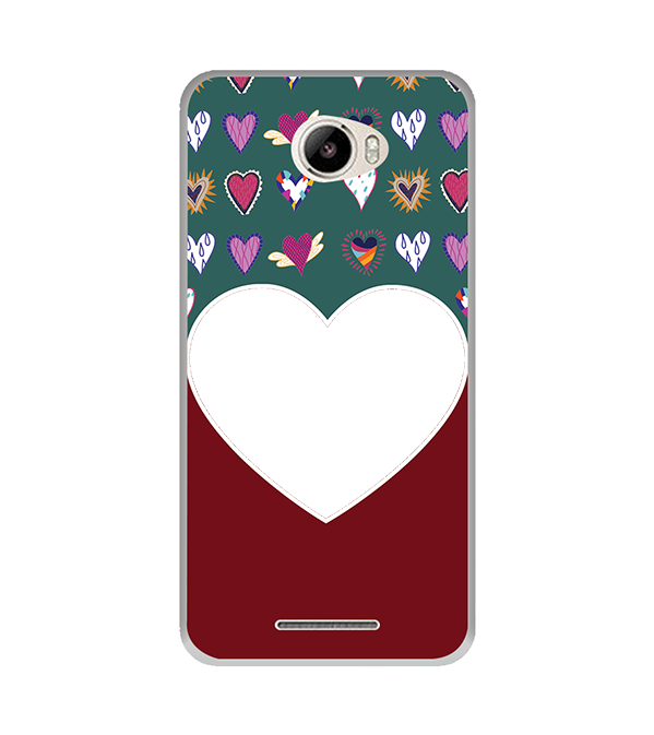 Hearts Photo Back Cover for Intex Intx Trend Lite