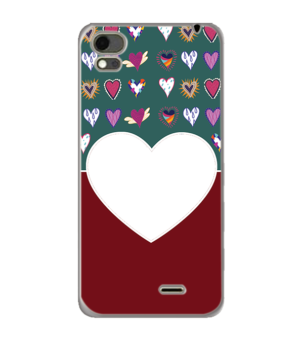 Hearts Photo Back Cover for Karbonn Aura Note 4G