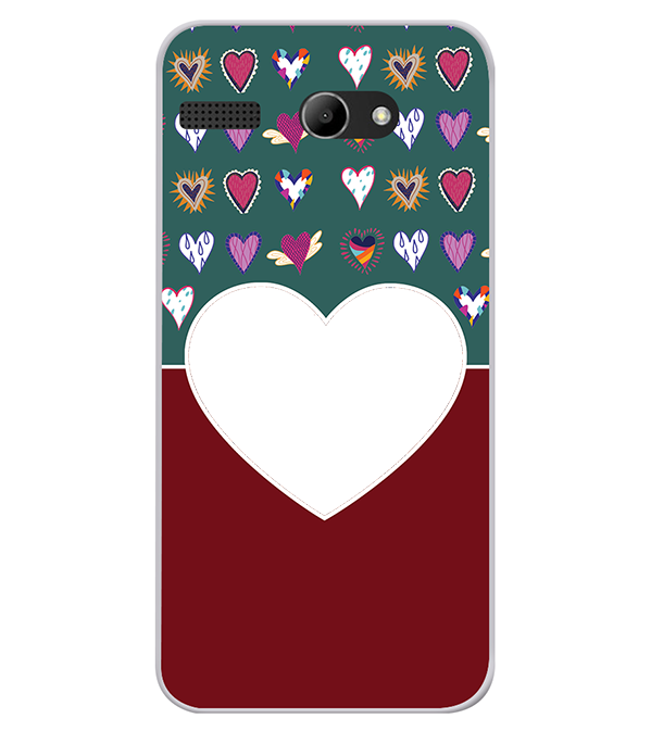 Hearts Photo Back Cover for Lava Iris Atom X
