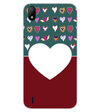 Hearts Photo Back Cover for Lava Z41