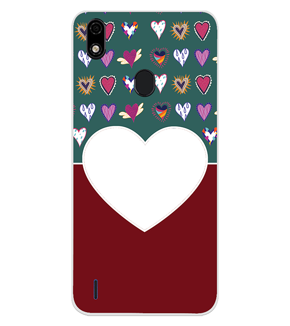 Hearts Photo Back Cover for Lava Z52 Pro