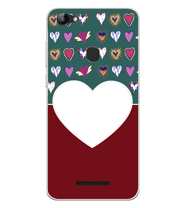 Hearts Photo Back Cover for Lava Z81