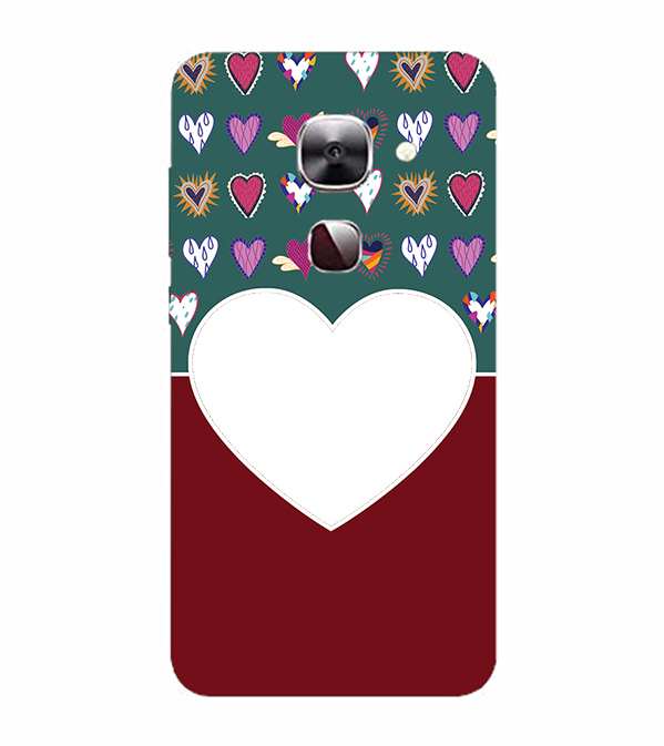 Hearts Photo Back Cover for LeEco Le 2s