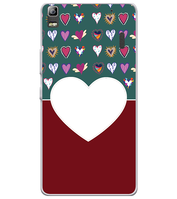 Hearts Photo Back Cover for Lenovo A7000 and K3 Note