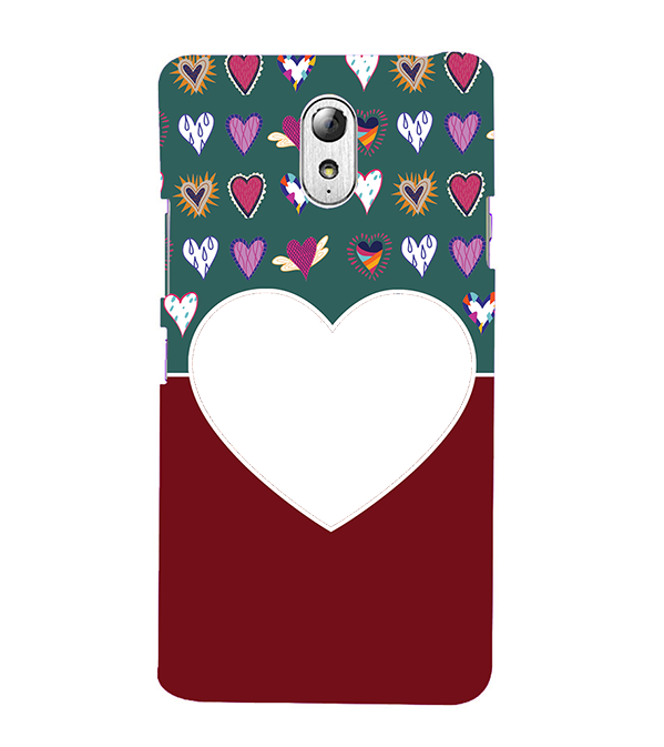 Hearts Photo Back Cover for Lenovo Vibe P1M