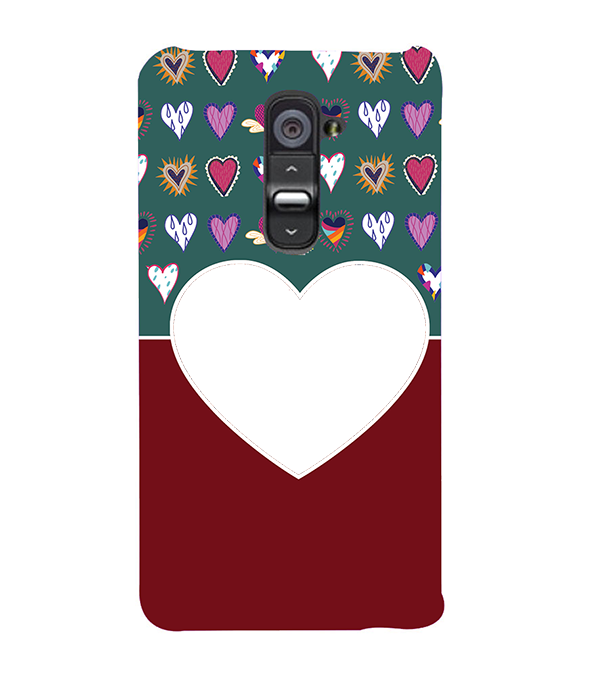 Hearts Photo Back Cover for LG G2